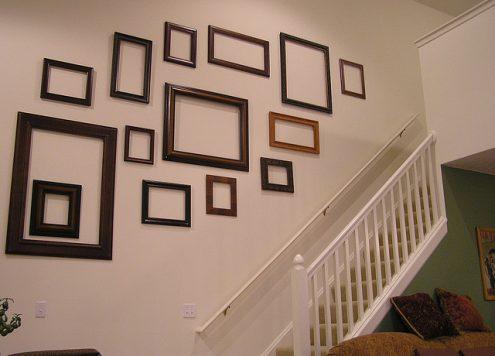 empty frame wall