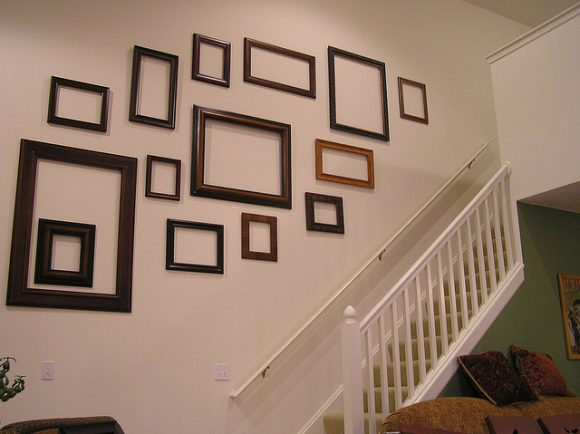 Question  What to do with empty frames Empty Picture Frame On Wall