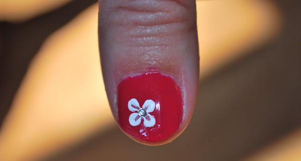 Simple Nail Design Flower Tutorial Dollar Store Crafts