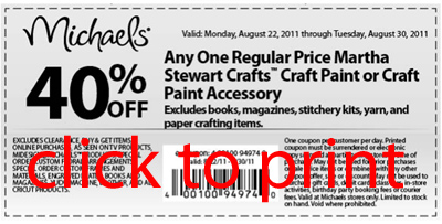 michaels coupon sample