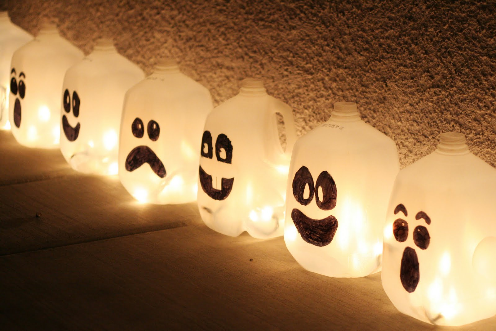 Dollar store crafts 187 blog archive 187 make milk jug jack o lanterns