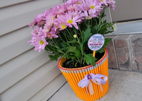 pencil flower pot