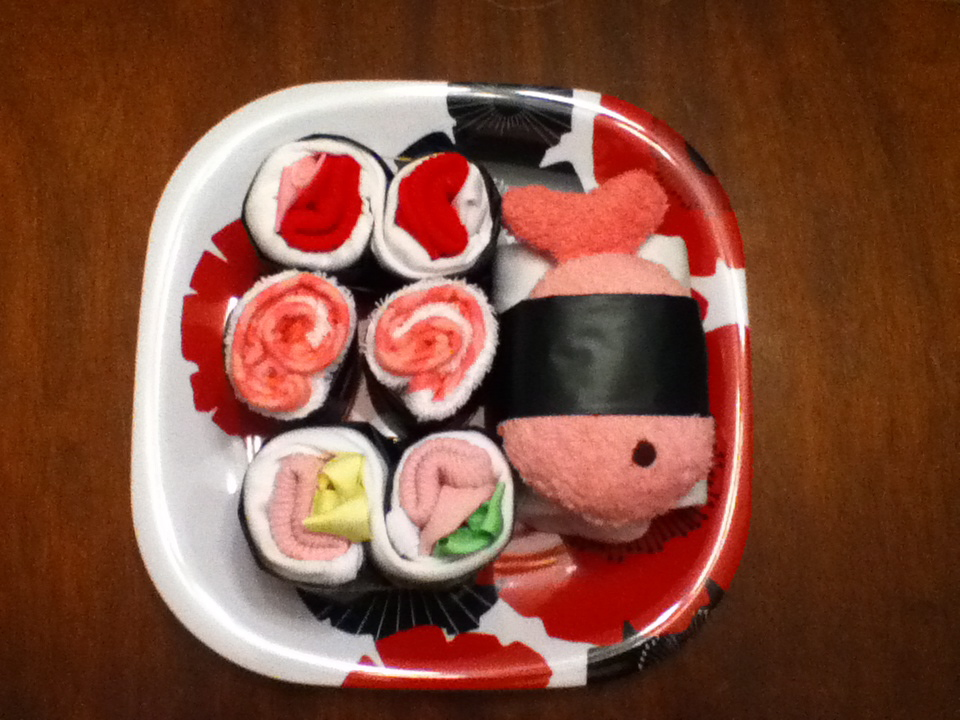 Make a sushi baby shower gift dollar store crafts faux solutioingenieria Choice Image