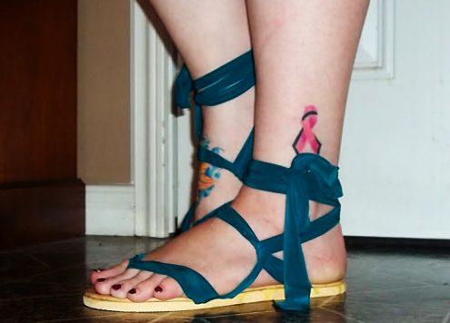 diy infinity sandals