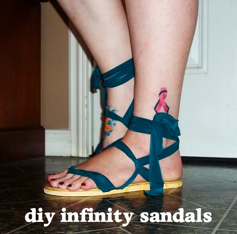 2cd01fa595e10 Infinity Sandals Tutorial » Dollar Store Crafts