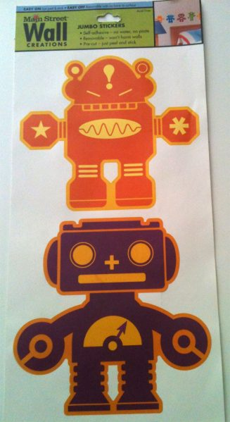 dollar store robot sticker