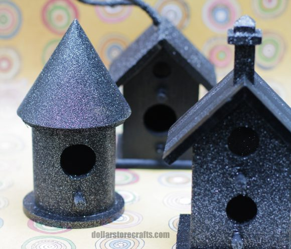 haunted birdhouse glitter