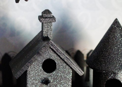 haunted glitter birdhouse