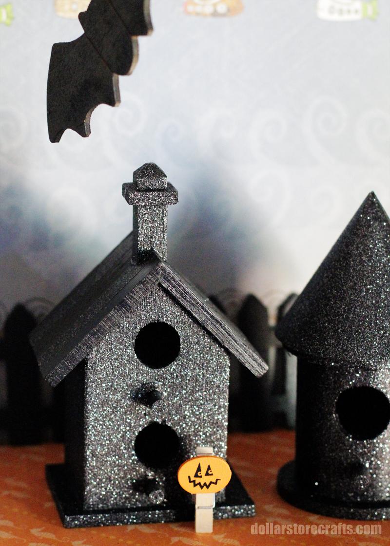 Wondrous Make A Haunted Birdhouse Village Dollar Store Crafts Home Interior And Landscaping Palasignezvosmurscom