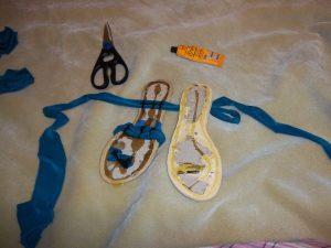 infinity sandals diy