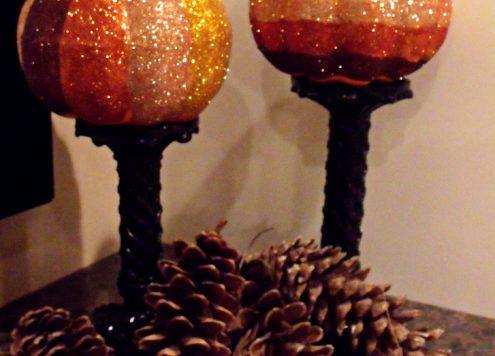 ombre glitter pumpkin