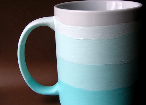 ombre painted mug