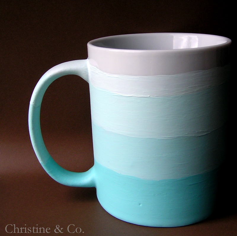Make a ombre painted mug dollar store crafts for Coffee mug craft kit