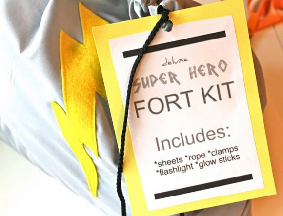 super hero fort kit