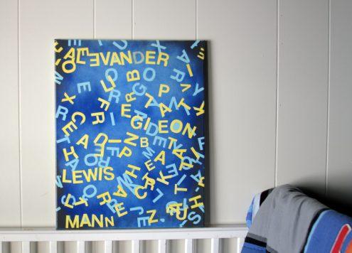 hidden names wall art