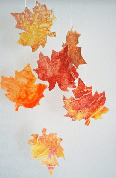 wax fall leaves