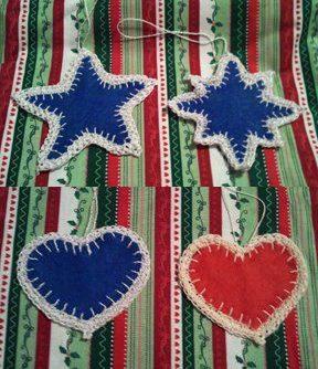 felt cookie cutter christmas tags