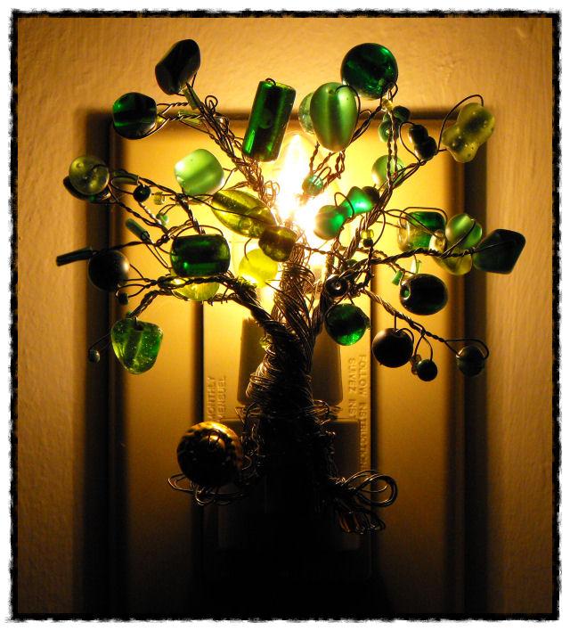 Make A Beaded Tree Night Light 187 Dollar Store Crafts