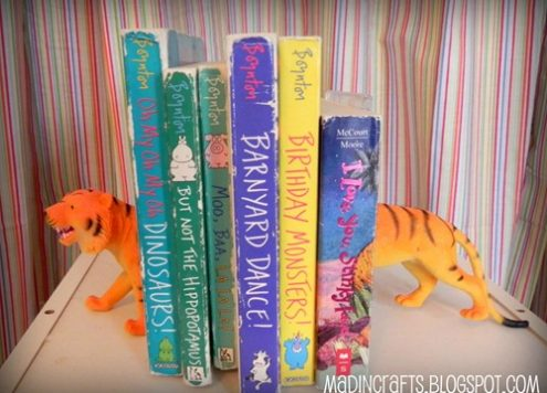 Children's Dollar Store Plastic Animal Bookends