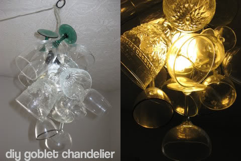diy goblet chandelier