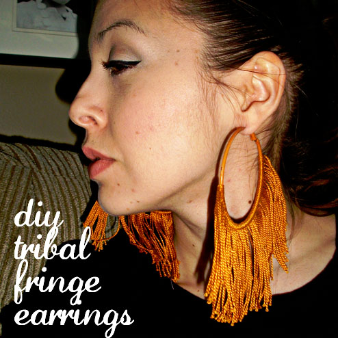 diy tribal fringe earrings