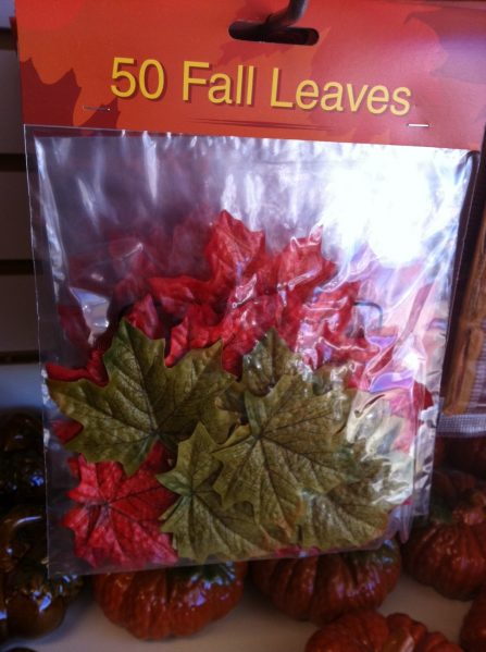dollar tree faux leaves