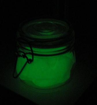 Homemade Glow in the Dark Play Dough