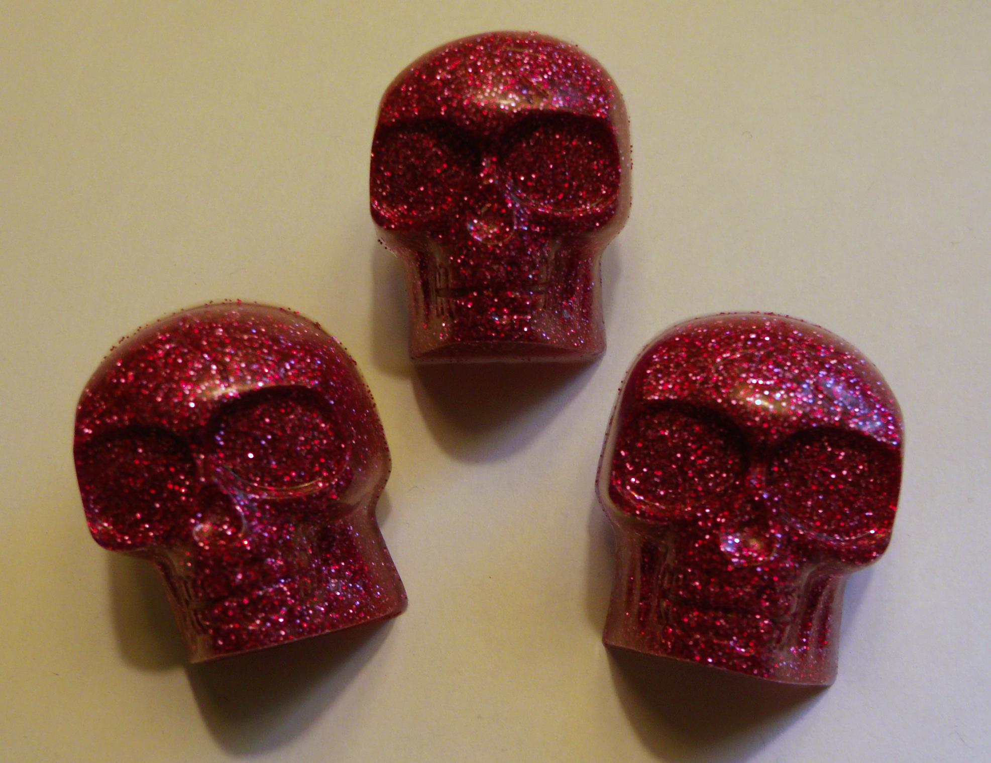 make glitter skull pins » dollar store crafts