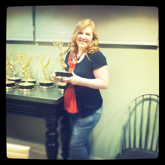 heather with Martha's emmy
