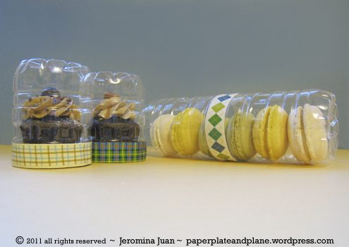 recycled plastic bottle cookie packaging