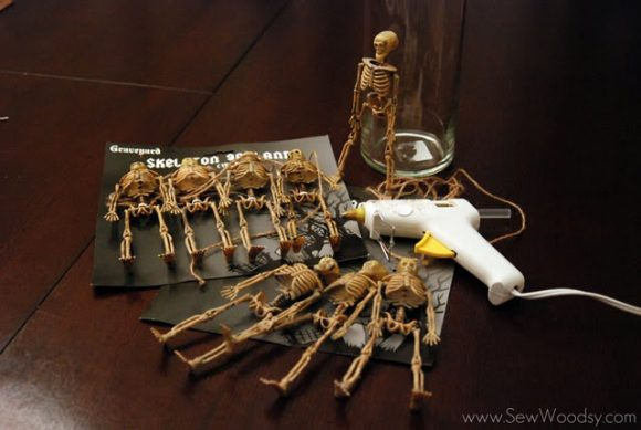 skeleton vase supplies