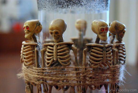 skeleton vase rhinestone eyes