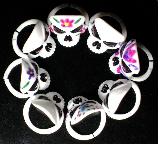 sugar skull rings