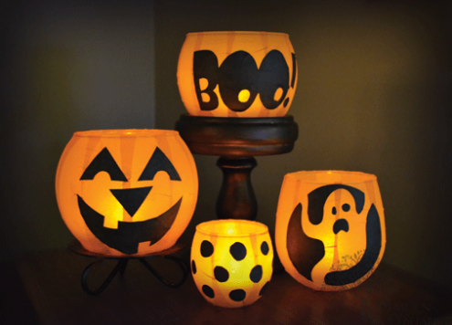 Pumpkin Votive Luminaries by Maiden D'shade