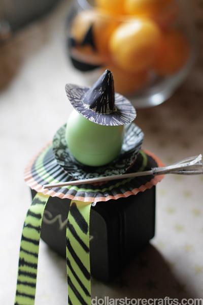Halloween Craft: Egg Witch Favor » Dollar Store Crafts