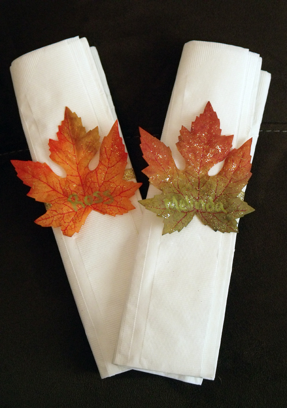Make Easy Fall Leaf Napkin Rings Dollar Store Crafts