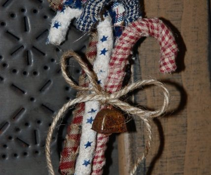 fabric wrapped candy cane