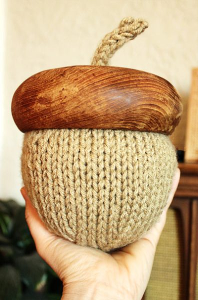 Extremely Large Knitted Acorn