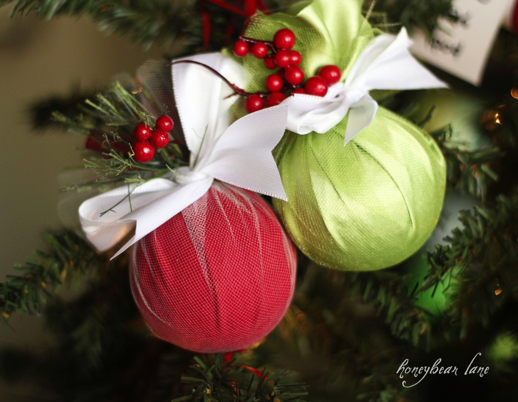 Make A Fabric-Wrapped Ornament » Dollar Store Crafts