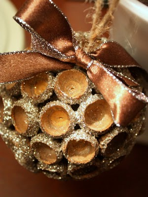 make an acorn cap christmas ornament dollar store crafts
