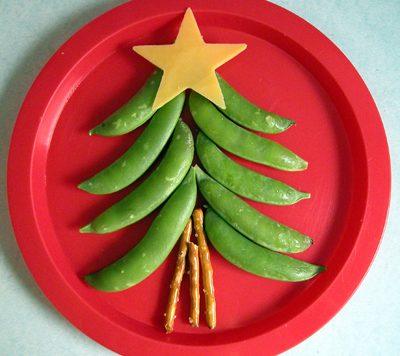 healthy christmas tree snack