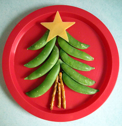 healthy christmas tree snack