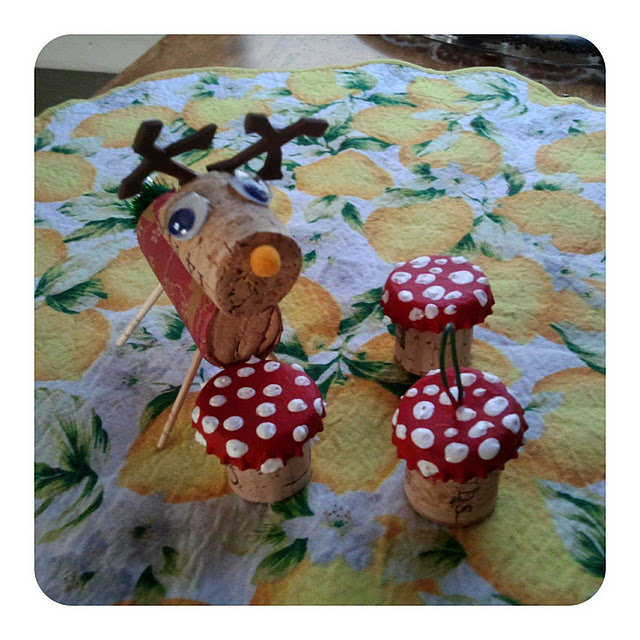Things Made With Corks: Make Wine Cork Mushrooms » Dollar Store Crafts