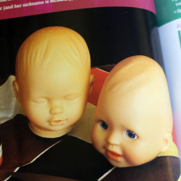 baby head salt and pepper shakers