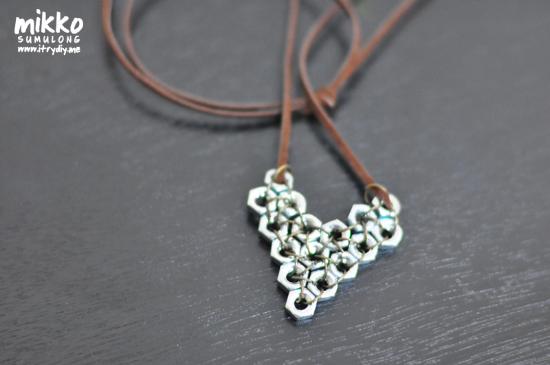 Make A Hex Nut Heart Pendant 187 Dollar Store Crafts