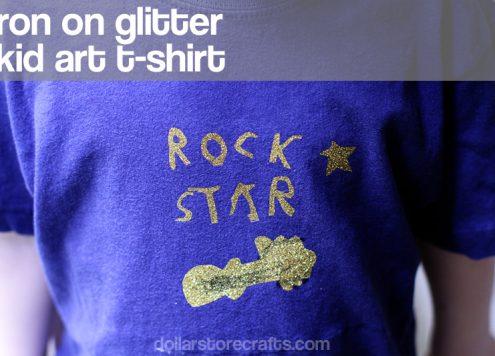 iron on kid art tshirt