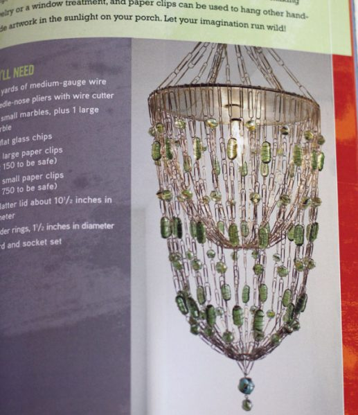 paperclip glass chandelier