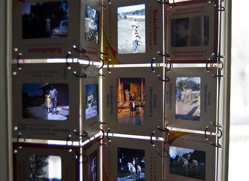 slide curtains closeup