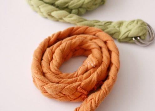 t shirt braided belt