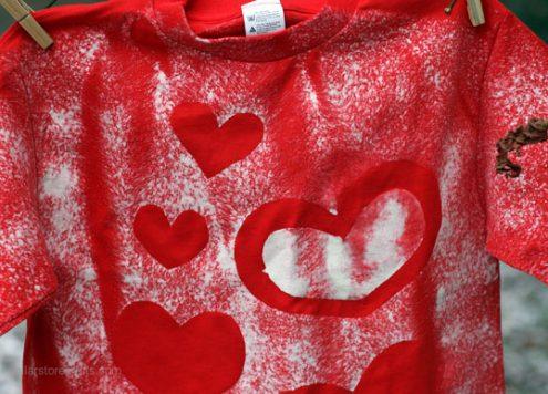 valentine stencil shirt